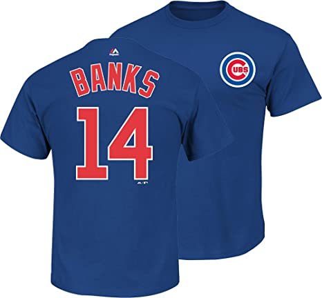 Ernie Banks Chicago Cubs Cooperstown T-Shirt by Majestic