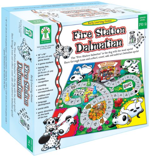 "Fire Station Dalmatian: The ""Fire Station Dalmatian"" Is the Dog with the Most Spots! Race Through Town and Collect, Count, Add, and Subtract D"