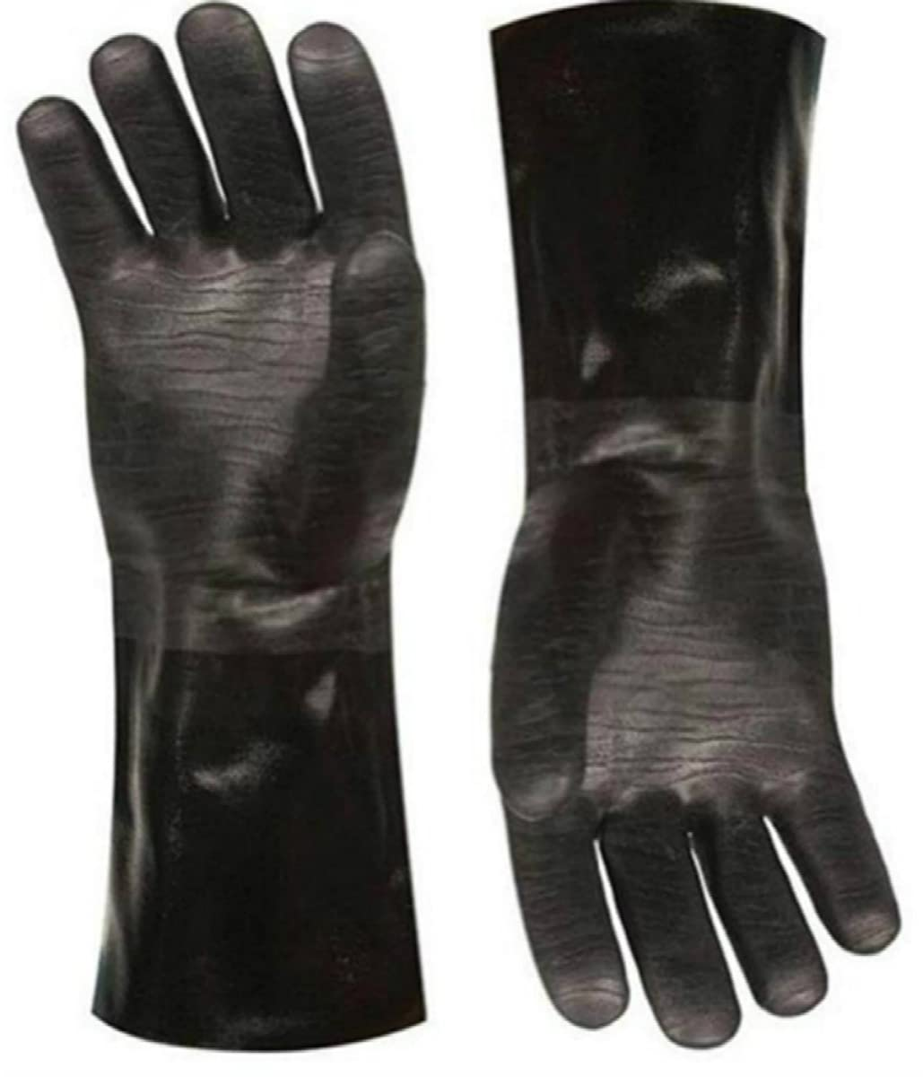 Artisan Griller Insulated waterproof / oil & heat resistant BBQ, Smoker, Grill, and Cooking Gloves. Great for barbecue & grilling -excellent gift -1 pair (14 Inch)