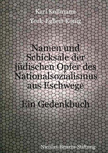 Buchcover: Namen und Schicksale der jüdischen Opfer des Nationalsozialismus aus Eschwege