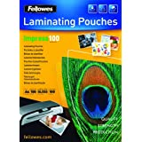 Fellowes Impress A4 100 Micron Glossy Laminating Pouches (Pack of 100)by Fellowes