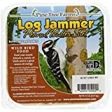 Pine Tree Farms 5002 Log Jammer Woodpecker Peanut Suet Plug, 3 plugs per pack , 9.4-Ounce