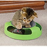1 X Cat Toy With Rotating Mouse Kitten Toy Spinning Mouse Rotates 360° With Scratch Pad