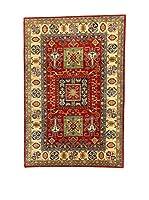 L'EDEN DEL TAPPETO Alfombra Uzebekistan Super Rojo/Multicolor 198 x 296 cm