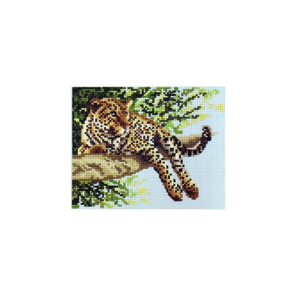 Leopard Cameo Cross Stitch Kit Janlynn
