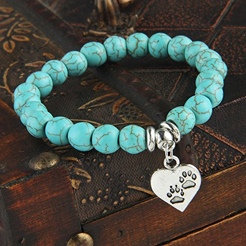 turquoise-ball-bracelet-with-pawprint-pet-charm
