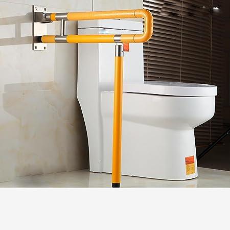 UZI-Imbottito corrimano barriere disabilitato Servizi igienici WC sanitari acciaio inossidabile nylon pieghevole bracciolo