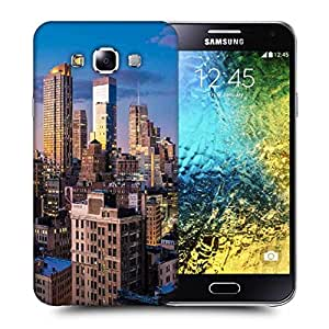 Snoogg Abstract Tall Buildings Printed Protective Phone Back Case Cover ForSamsung Galaxy E5