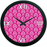 MeSleep Pink Pattern Wall Clock (With Glass)
