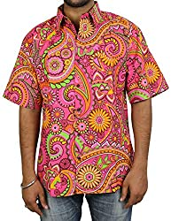 Indian Dress Cotton Beach Shirt For Men Printed Fashion Accessory Comfortable Airy