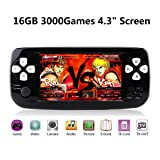 Anbernic Handheld Game Console, 16GB 3000 Retro Classic Game Console Pap-KIII , Portable Video Game Console Support GBA / NES / SFC / Sega / NEOGEO , Birthday Gift Children - Black (Color: Black)