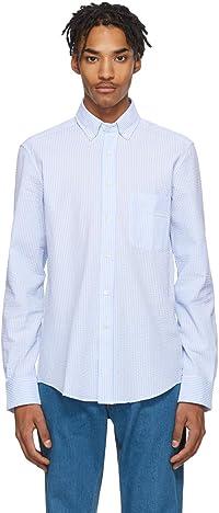 [ランバン] シャツ ブラウス メンズ 青と白のシアサッカーシャツ LANVIN Men`s shirt(並行輸入品)