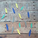 1in Feather Confetti Set, Feather Decorations, Rustic Theme, Boho Decorations, Bird Theme, Table Scatter, Feather Cut Outs, Woodland Decorations