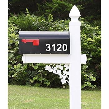The Darlington Vinyl / PVC Mailbox Post (Includes Mailbox)