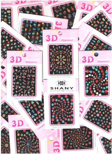 Shany 3D Nail Art Stickers Decals, 5-Ounce