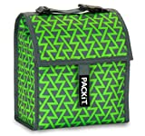 PackIt Freezable Lunch Bag with Adjustable Strap, Lightning Green