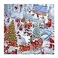 """Tischdecke Wachstuch Abwaschbar """"Fröhliche Weihnachten"""" 138cm Rund (228-00R) von FLORISTA - Gartenmöbel von Du und Dein Garten"""