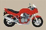 Suzuki Bandit GSF 600s 1997 Motorcycle Cross Stitch Kit - Orange