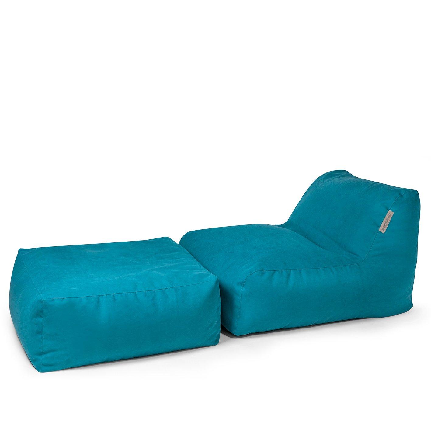 Pushbag Sitzsack Chair und Easy im Set, (Polyester), 750l, petrol günstig online kaufen