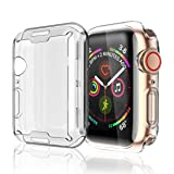 Misxi Compatible with Apple Watch Series 4 Screen Protector 44mm, 2018 New iwatch Cover TPU Overall Protection 0.3mm Ultra-Thin Case for Apple Watch Series 4 44mm (2-Pack) (Color: New Case for Series 4 44mm(2Pack), Tamaño: New Case for Series 4 44mm(2Pack))