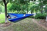 OutdoorEQ Portable Nylon Fabric Travel Camping Hammock Blue/grey