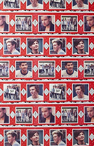 One Direction Christmas Gift Wrap Wrapping Paper Id Band (1 Roll, 70 Sq. Ft.)