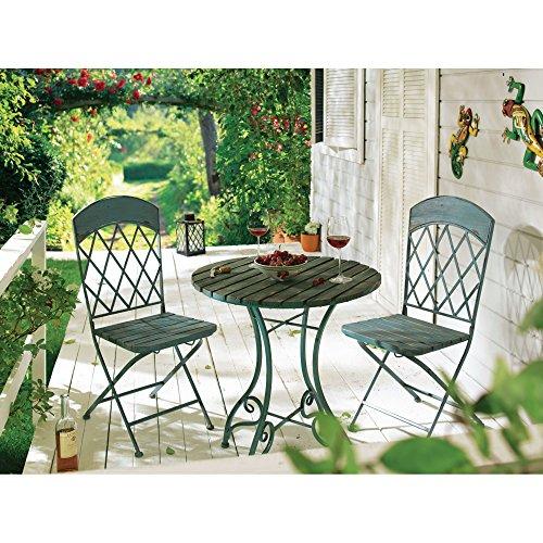 Gartenset-Vintage-blau-MetallHolz-Mix-Tisch-ca-74cm-hoch-65-cm--Stuhl-ca-B405xT53xH95cm
