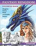 Fantasy Kingdom. Grayscale Adult colo...