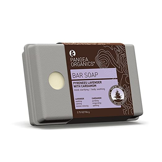 Pangea Organics Bar Soap, Pyrenees Lavender With Cardamom, 3.75-Ounce Box