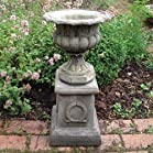 Large Garden Planter - Modena 31 Stone Vase Plant Pot on Plinth
