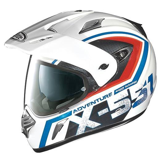 Casque X-lite X-551 GT Adventure N-COM - S - Blanc/Bleu/Rouge -