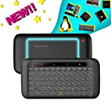 H20 Wireless Mini-Keyboard Two-Sided Touch Backlit Keyboard H20 with Infrared Learning Function, 2.4GHz Rechargeable Mouse for Android TV Box, PC, Computer, Media Player (Color: H20)