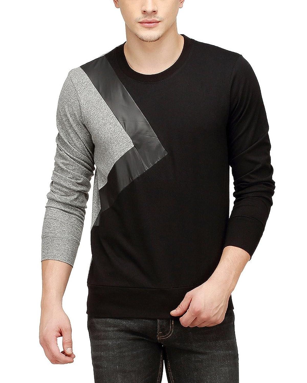 Campus Sutra Men Tri Colour Full Sleeve T-Shirt: Amazon.in ...