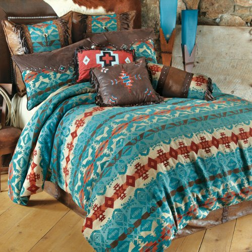 Cerrillos Hills Turquoise Southwestern Bed Set