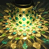 Blue Green Diamond Solar Glass Jar Decoration Light Sogrand Solar Lights Outdoor Solar Jar Yard Decorations Solar Pathway Lights