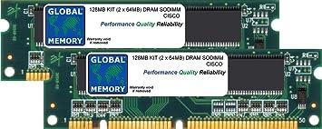 128Mo (2 x 64Mo) DRAM SODIMM MÉMOIRE RAM KIT POUR CISCO 2600XM ROUTEUR (MEM2650-2X64D)
