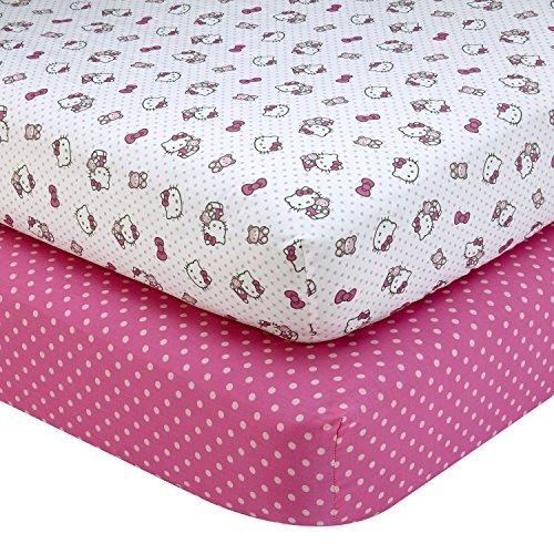 Sanrio-Hello-Kitty-Cute-as-a-Button-2-Piece-Sheet-Set-PinkWhite