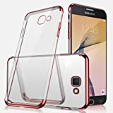 Galaxy J5 Prime Case, Galaxy J5 Prime Clear Case,ikasus Ultra-thin Crystal Clear Shock Absorption Plating Transparent Bumper Silicone Gel Rubber Soft TPU Cover Case for Galaxy J5 Prime,Rose Gold (Color: Rose Gold)