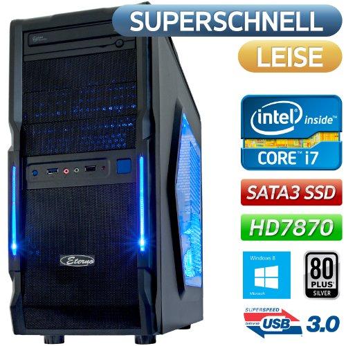SATA3 SSD 240GB (550MB/s)|Windows 8 64Bit |Gamer-PC ECO-TEC Intel Core i7 3770 4x3.4GHz |16GB DDR3-1866 |1500GB SATA3| MSI HD7870 OC 2GB DX11 PCIe 3.0 3.0|MSI Z77A-G43 Mainboard |BeQuiet 600W Netzteil 80Plus Silber |7.1 Sound |Front-USB3.0 |Sata3 |Xigmatek Gaia SilentCooler