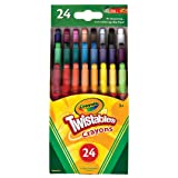 20 Pieces BBTO 20 in 1 Colorful Crayons Rainbow Glitter Crayon Twistable Crayons for Drawing Learning and Art Class Supplies 4 Shell Colors
