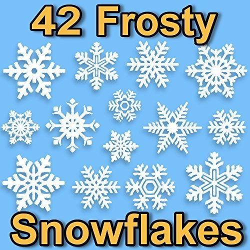 42-snowflake-window-clings-2d-frosty-design-by-articlings-quick-simple-christmas-decorations-glueles
