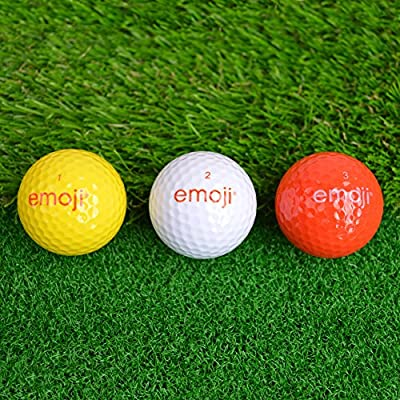 Official Emoji Novelty Fun Golf Balls - by Emoji