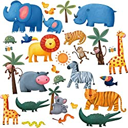 [Best price] Kids&#039 - RoomMates RMK1136SCS Jungle Adventure Peel & Stick Wall Decals - toys-games