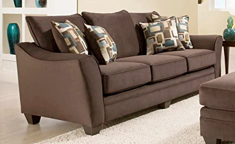 Chelsea Home Furniture Cupertino Sofa, Flannel Espresso