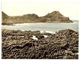 13cm x 18cm (1890 - 1900) Vintage Photochrom Postcard Reprint of The Steuchans, Giant's Causeway, County Antrim, Ireland