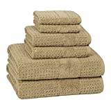 Kassatex Divinely Soft and Durable, Highly Absorbing 100% Combed Turkish Cotton Hammam Collection Bath Towels (Hand Towel, Almond)