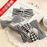 Blingys Black And White Design Style Hair Clips/Duck Bill Clip/Bobby Pins/Hairpins/Barrette (5 Piece Combo Set) With Blingys Bag
