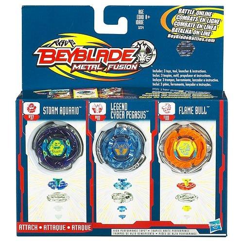 Beyblade 3er Set High Performance Tops Storm Aquario,Legend Cyber Pegasus,Flame Bull günstig