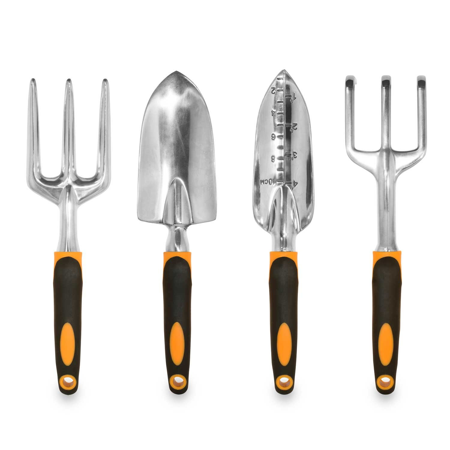 Gardenhome ergonomic garden tools 4 piece tool set ebay for Tools for backyard gardening