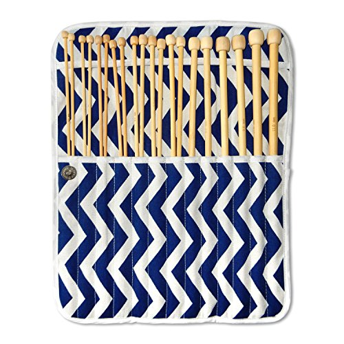 Best Quality Bamboo Knitting Needles Set with Knitting Needle Case Organizer- Kids, Adults, Beginner or Expert Knitters- US Size 4,5,6,7,8,9,10,11,13,15- 14 inch length Single Pointed Knitting Kit (Crafters Choice Sewing Machine compare prices)
